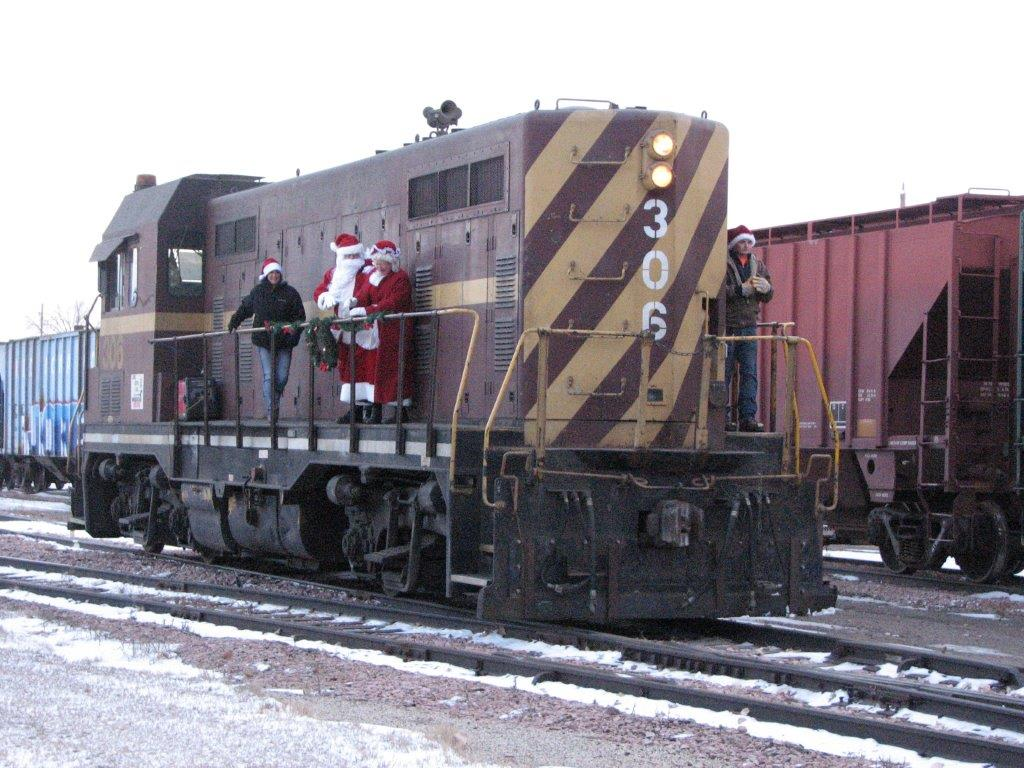 Christmas at the Depot- a Visit from Santa and Mrs. Claus Photo - Click Here to See